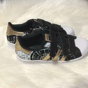Adidas superstar Death Star Black white shoes